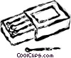 book of matches Vector Clipart illustration