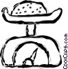 Vector Clipart picture  of a Food scale