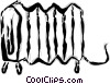 Vector Clipart graphic  of a radiator