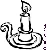 candle Vector Clipart illustration