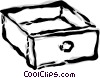Vector Clipart graphic  of a drawer