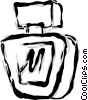 Vector Clip Art image  of a bottle of cologne
