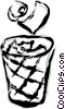 trash can Vector Clipart image
