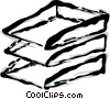 Vector Clip Art image  of a in/out tray