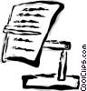 clipboard Vector Clipart illustration