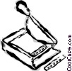 Vector Clip Art image  of a paper cutter