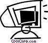 computer monitor Vector Clipart illustration