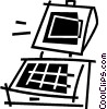Vector Clip Art graphic  of a laptop