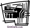 Vector Clip Art picture  of a circuit board