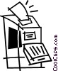 Vector Clipart graphic  of a photocopier