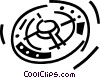 Vector Clip Art graphic  of a space station