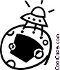 UFO Vector Clip Art graphic