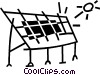 Vector Clip Art graphic  of a solar panel