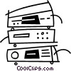 Vector Clipart picture  of a stereo components