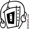 Vector Clipart picture  of a portable cassette player