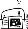 Vector Clipart image  of a portable radio