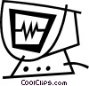 Vector Clipart picture  of a ecg monitor