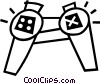 game controller Vector Clip Art picture