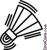 Vector Clipart graphic  of a Badminton birdie