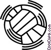 volleyball Vector Clip Art graphic
