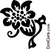 decorative floral elements Vector Clipart image