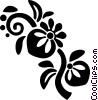 decorative floral elements Vector Clip Art image