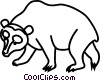 Vector Clip Art image  of a bear