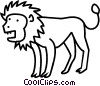Vector Clip Art image  of a lion