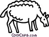Vector Clipart picture  of a sheep