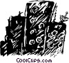 Vector Clipart graphic  of a buildings
