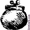 Vector Clip Art picture  of a change purse
