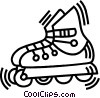 roller blade Vector Clipart image