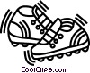 running shoes Vector Clip Art graphic