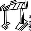 Vector Clip Art graphic  of a hurdle