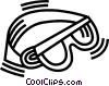 Vector Clipart graphic  of a goggles