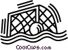 Vector Clip Art graphic  of a water polo net