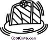 soccer net Vector Clipart image