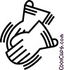 Vector Clip Art image  of a work gloves