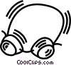 Vector Clip Art graphic  of a protective goggles