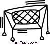 Vector Clip Art graphic  of a trampoline