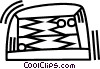 Vector Clip Art graphic  of a backgammon