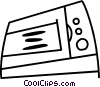 Vector Clip Art graphic  of a Microwave Ovens