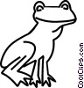 Vector Clip Art graphic  of a frog
