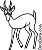 Vector Clip Art image  of a deer