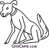 dog Vector Clipart illustration