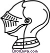Vector Clip Art graphic  of a knights helmet