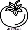 Vector Clip Art graphic  of a tomato