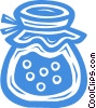 Vector Clip Art picture  of a jar of preserves
