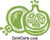 pomegranate Vector Clipart image