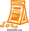 bag of coffee beans Vector Clip Art image